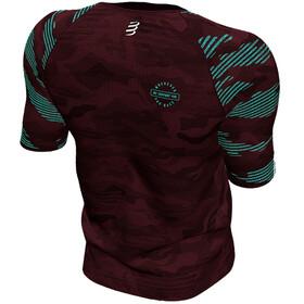 Compressport Training T-shirt Camo Neon 2020 Heren, camo burgundy